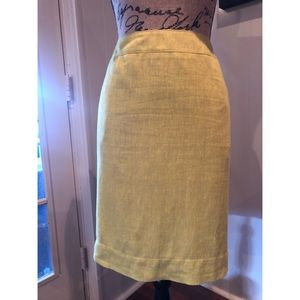 Linen Skirt (yellow) #shesdarlin!